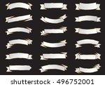 banner white vector icon set on ... | Shutterstock .eps vector #496752001