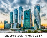 scenic view with skyscrapers of ... | Shutterstock . vector #496752337