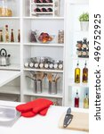a modern kitchen empty no...   Shutterstock . vector #496752925