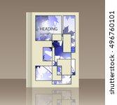 book autumn still life. maple...   Shutterstock .eps vector #496760101