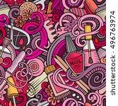 cartoon cute doodles hand drawn ... | Shutterstock .eps vector #496763974