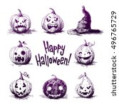 hand drawn sketch illustrations ... | Shutterstock .eps vector #496765729