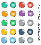vector set of round colorful... | Shutterstock .eps vector #496766749