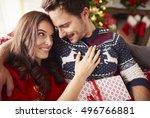 loving couple spending... | Shutterstock . vector #496766881