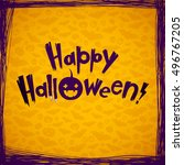 happy halloween vector... | Shutterstock .eps vector #496767205