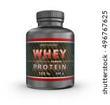 whey protein container. sport... | Shutterstock . vector #496767625