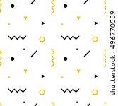 geometric shapes modern  trendy ... | Shutterstock .eps vector #496770559