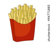 fast food vector icon.french... | Shutterstock .eps vector #496771885