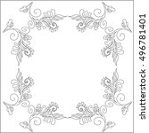 black and white decorative... | Shutterstock .eps vector #496781401