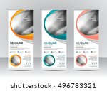 roll up banner stand template...   Shutterstock .eps vector #496783321