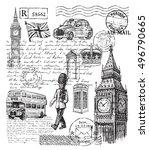 vector hand drawn illustration... | Shutterstock .eps vector #496790665