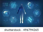 abstract technological health... | Shutterstock .eps vector #496794265