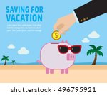 Saving For Vacation Concept ....