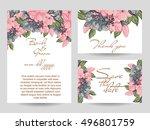vintage delicate invitation... | Shutterstock . vector #496801759
