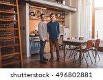 loving the home we built... | Shutterstock . vector #496802881