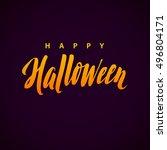 happy halloween vector...   Shutterstock .eps vector #496804171