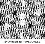 vector seamless background.... | Shutterstock .eps vector #496809661