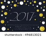 2017 vector image of... | Shutterstock .eps vector #496813021