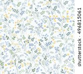 floral pattern on white... | Shutterstock .eps vector #496815061