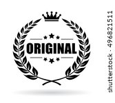 original product icon vector... | Shutterstock .eps vector #496821511