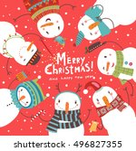 Christmas Card. Round Dance Of...