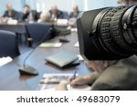 business conference under the... | Shutterstock . vector #49683079