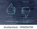 thumbs up and thumbs down ... | Shutterstock . vector #496836784