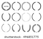 laurel wreaths vector... | Shutterstock .eps vector #496851775