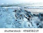 ice of a glacier vatnajokull | Shutterstock . vector #496858219