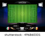 football or soccer playing... | Shutterstock .eps vector #496860331