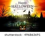 halloween. | Shutterstock .eps vector #496863691