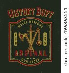 history buff. arsenal.... | Shutterstock .eps vector #496868551