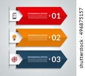arrow infographic options... | Shutterstock .eps vector #496875157