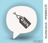 pictograph of tag | Shutterstock .eps vector #496880155