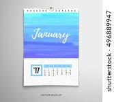 vector illustration. paper... | Shutterstock .eps vector #496889947