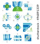 colored business infographic...   Shutterstock .eps vector #496891339