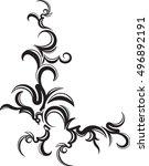 ornamental floral corner....   Shutterstock .eps vector #496892191