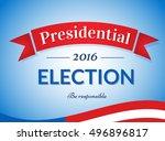 usa 2016 presidential election... | Shutterstock .eps vector #496896817