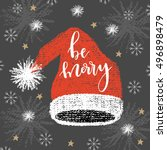 christmas greeting card with... | Shutterstock .eps vector #496898479