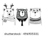 cute bear | Shutterstock .eps vector #496905331