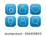 social media web icons   photo... | Shutterstock .eps vector #496909855