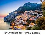 sunset view of mediterranean... | Shutterstock . vector #496913881
