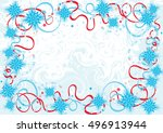 abstract christmas background.... | Shutterstock .eps vector #496913944