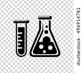 laboratory icon | Shutterstock .eps vector #496914781