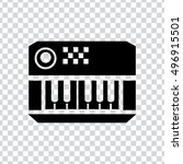 electric piano icon or sign ... | Shutterstock .eps vector #496915501