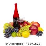 still life   a bottle of red... | Shutterstock . vector #49691623