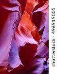 famous antelope canyon near... | Shutterstock . vector #496919005