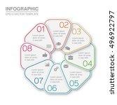 vector infographic template  8... | Shutterstock .eps vector #496922797
