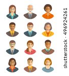 business people vector avatars... | Shutterstock .eps vector #496924261