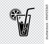 juice glass icon | Shutterstock .eps vector #496925365